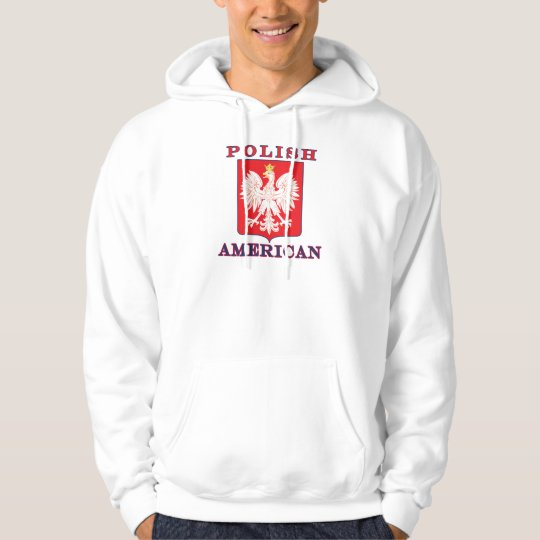 Polish American Eagle Shield Hoodie
