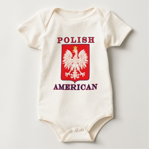Polish American Eagle Shield Rompers