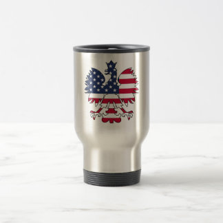Polish American Eagle Travel Mug