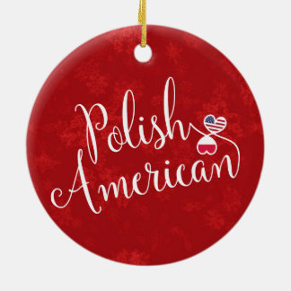 Polish American Entwined Hearts Holiday Decoration
