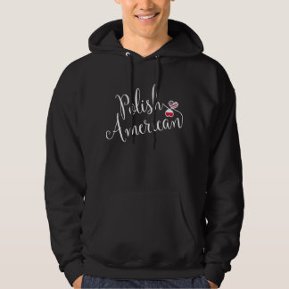 Polish American Entwined Hearts Hoodie