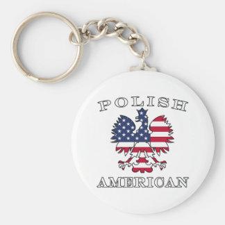 Polish American Flag Eagle Keychain