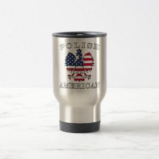 Polish American Flag Eagle Travel Mug