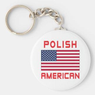 Polish American Flag Keychain