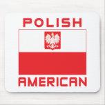 Polish American Flag Mouse Pad