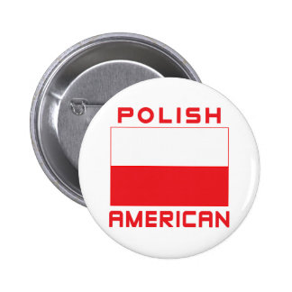 Polish American Flag Pinback Button