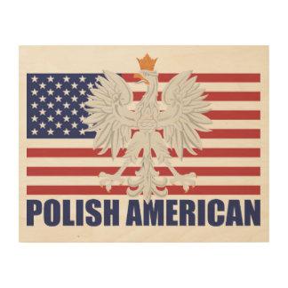 Polish American Flag Wood Wall Art