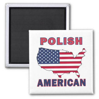 Polish American Map Magnet