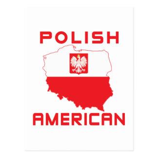 Polish American Map Postcard