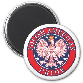 Polish American Pride 2 Inch Round Magnet