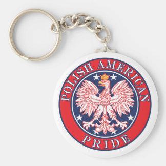 Polish American Pride Keychain