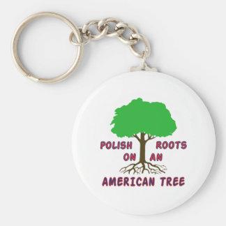 Polish American Roots Keychain
