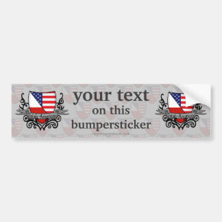Polish-American Shield Flag Bumper Sticker