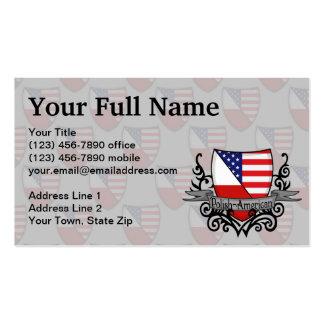 Polish-American Shield Flag Business Card Templates