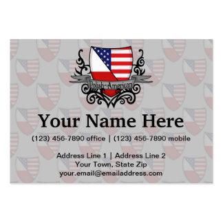 Polish-American Shield Flag Business Cards