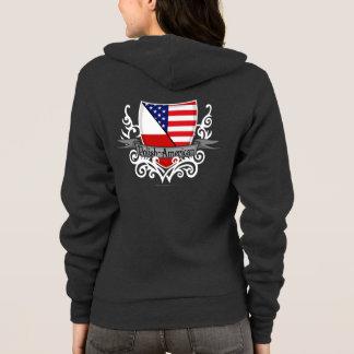 Polish-American Shield Flag Hoodie
