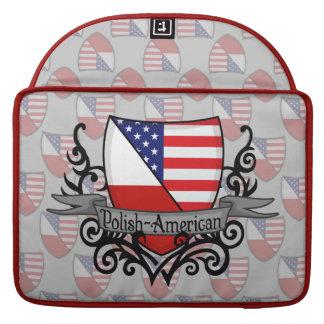 Polish-American Shield Flag MacBook Pro Sleeves