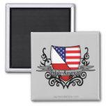 Polish-American Shield Flag Refrigerator Magnets