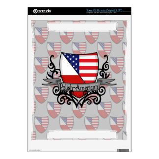 Polish-American Shield Flag Decals For Xbox 360
