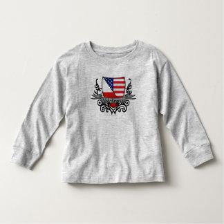 Polish-American Shield Flag Toddler T-shirt