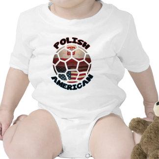 Polish American Soccer Ball Tshirt