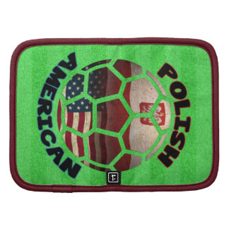 Polish American Soccer Notebook Cover Folio Organizer