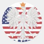 Polish American Sticker