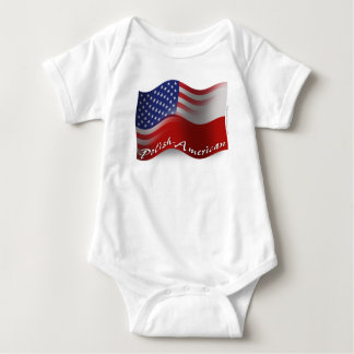 Polish-American Waving Flag Baby Bodysuit