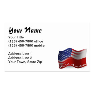 Polish-American Waving Flag Business Cards