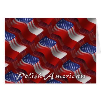 Polish-American Waving Flag Card