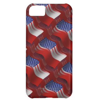 Polish-American Waving Flag Case For iPhone 5C