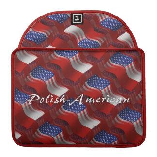 Polish-American Waving Flag Sleeve For MacBook Pro