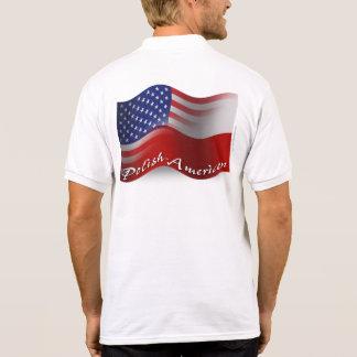 Polish-American Waving Flag Polo T-shirt