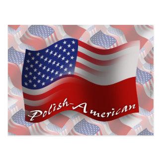 Polish-American Waving Flag Postcard