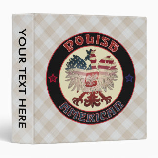 Polish American White Eagle Binder
