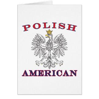 Polish American White Eagle Card