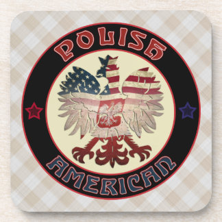 Polish American White Eagle Coaster Set