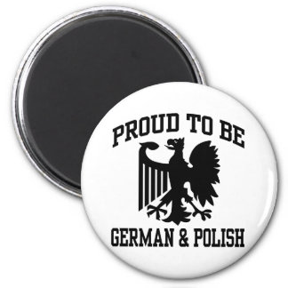 Polish And German 2 Inch Round Magnet