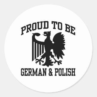 Polish And German Classic Round Sticker
