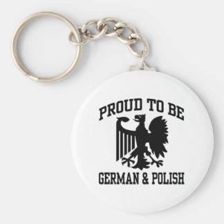 Polish And German Keychain