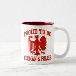 Polish And German Two-Tone Coffee Mug