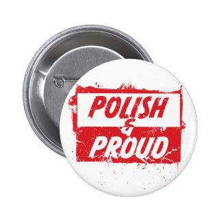 Polish and Proud Pin