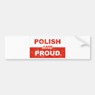 Polish And Proud Car Bumper Sticker