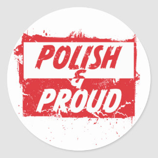 Polish and Proud Classic Round Sticker