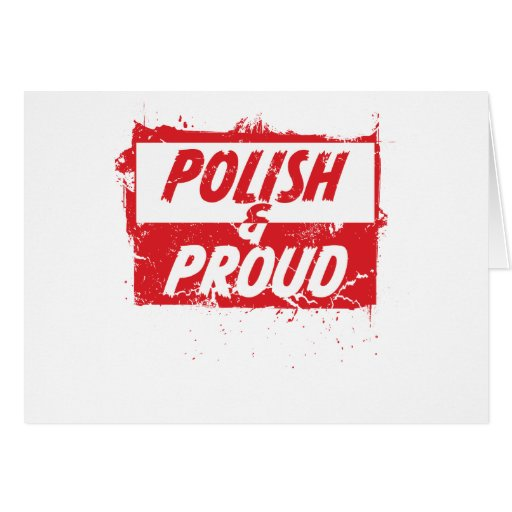Polish and Proud Greeting Card