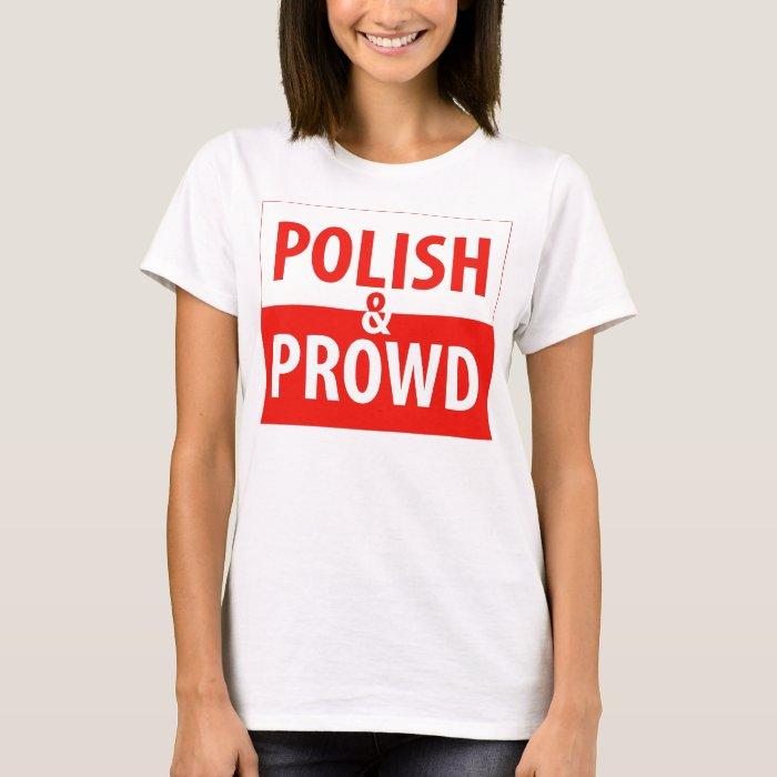 Polish and Proud Womens Spaghetti Strap Shirt