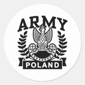 Polish Army Classic Round Sticker