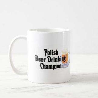 Polish Beer Drinking Champion Classic White Coffee Mug