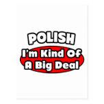 Polish...Big Deal Postcard