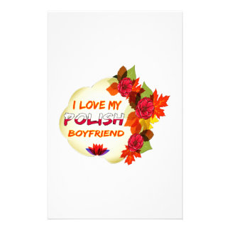 Polish Boyfriend Design Custom Stationery
